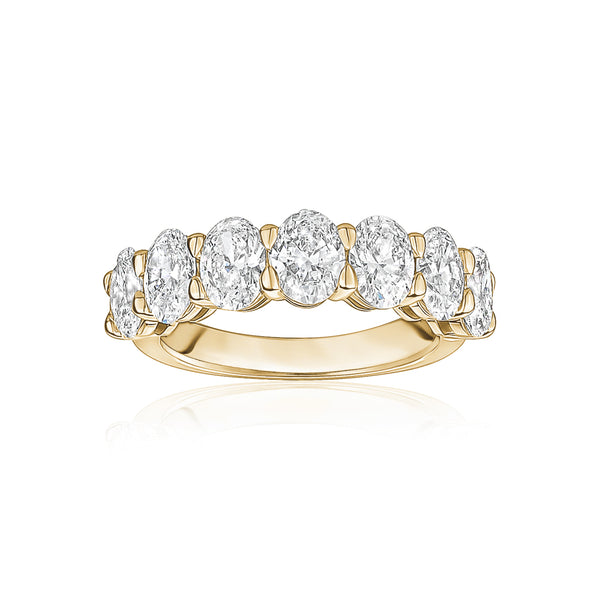 Semi Diamond Oval Eternity Band