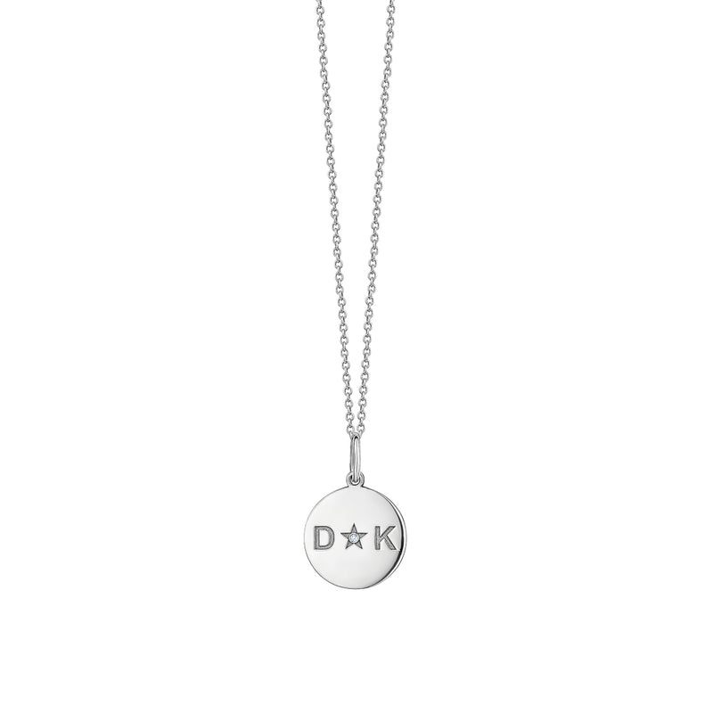 Mini Disc with Engraving Necklace