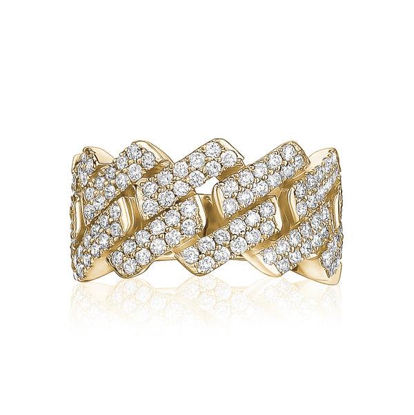 Zig Zag Diamond Men Ring