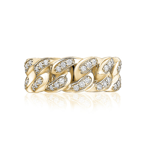 Men Diamond Link Ring