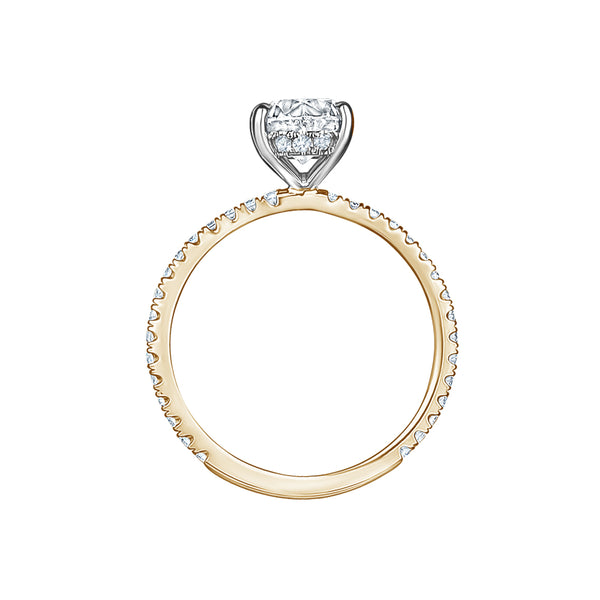 Oval with Pavé Band Engagement Ring