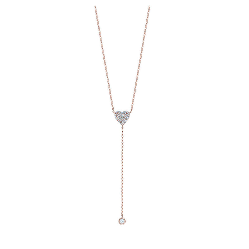 Dangling Diamond Heart Necklace