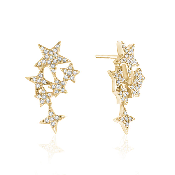 Diamond Starry Earrings