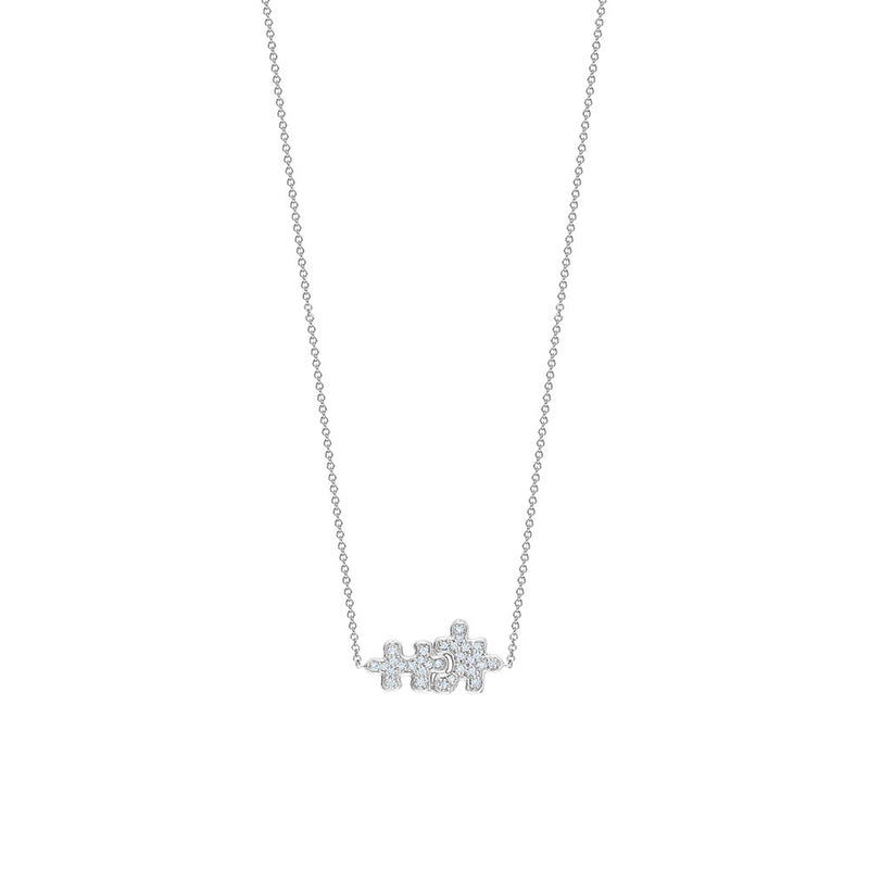 Full Pavé Puzzle Necklace