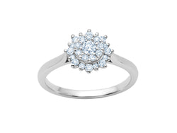 Cluster Diamond Flower Ring