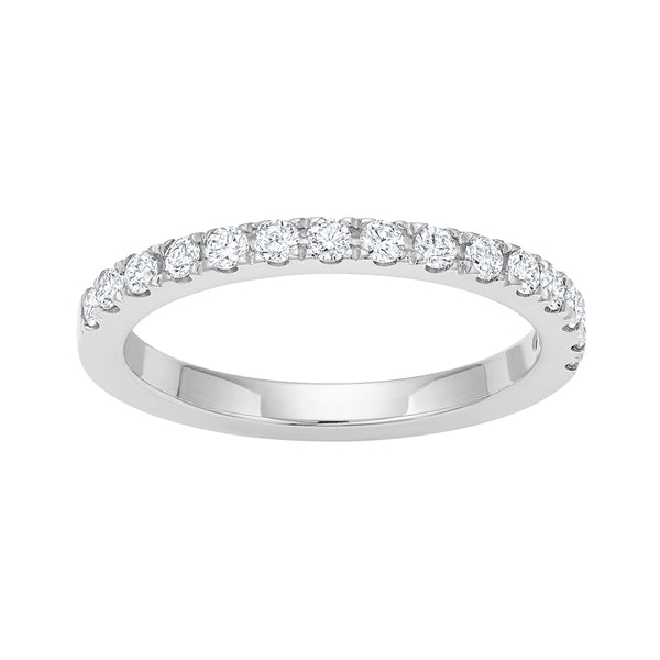 Half Pavé Diamond Ring