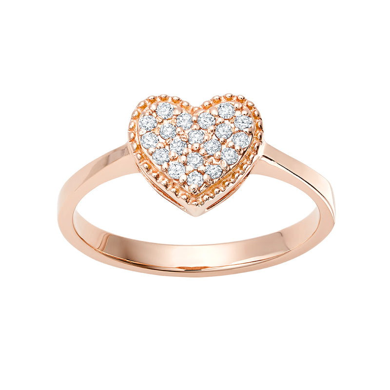 Heart Pavé Ring