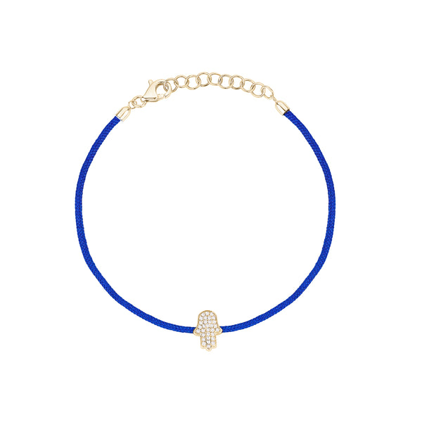 Blue String with Hamsa Bracelet