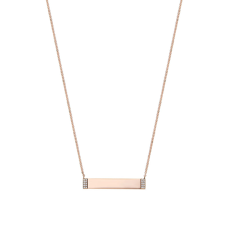 Diamond Nameplate Necklace