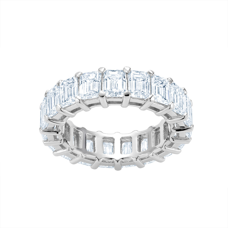 Diamond Emerald Cut Eternity Band