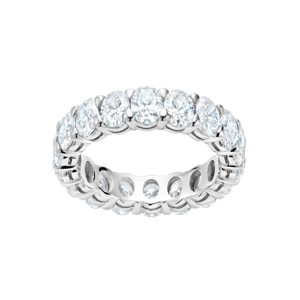 Diamond Oval Cut Eternity Band