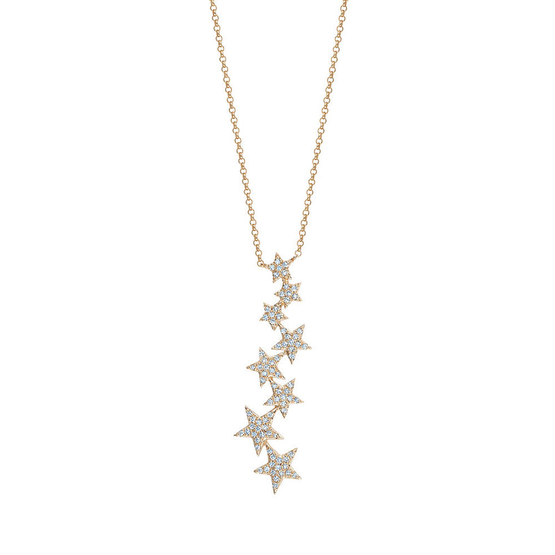Dangling Diamond Star Necklace