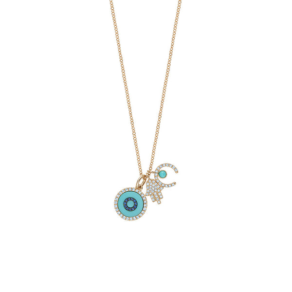 Evil Eye Hamsa Necklace