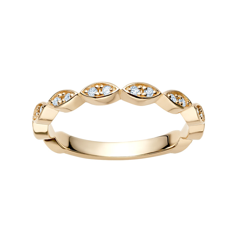 Diamond Marquise Shaped Band