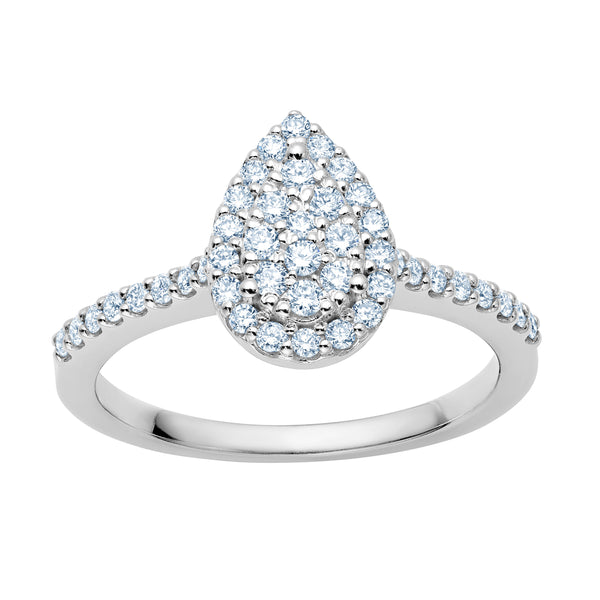 Cluster Diamond Pear Shape