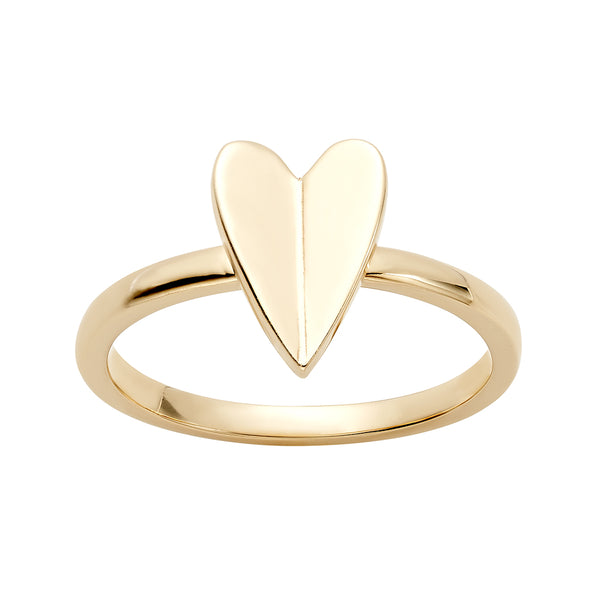 Elongated Heart Ring