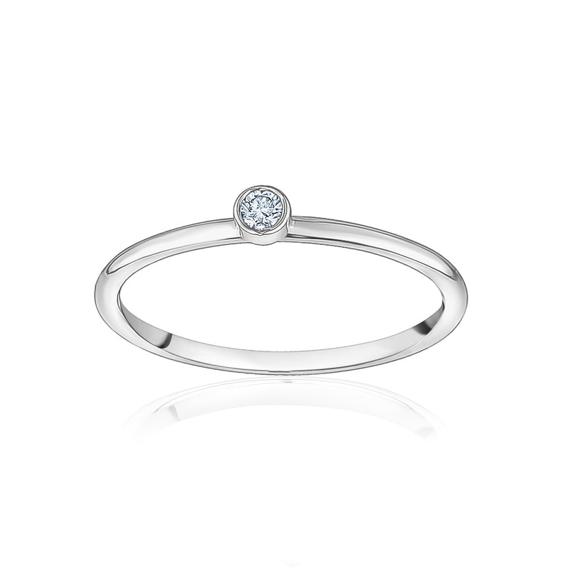 1 Diamond Stackable Ring