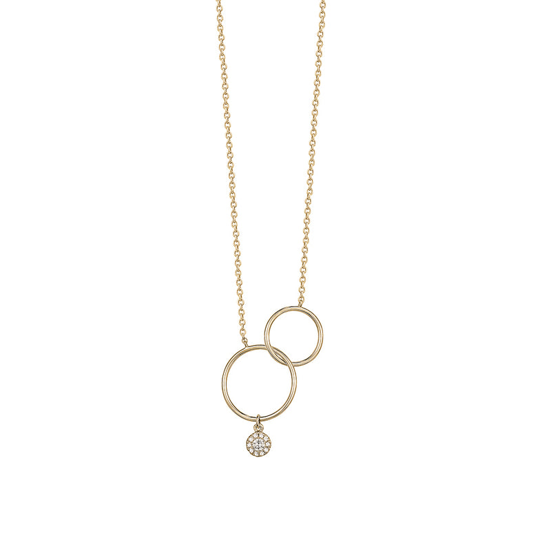 Dangling Open Circle Necklace