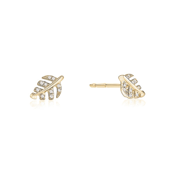 Diamond Leaf Stud