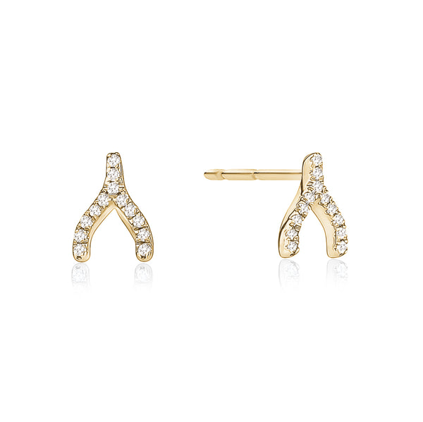 Diamond Wishbone Stud