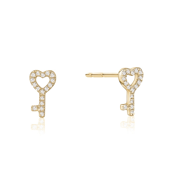 Diamond Key Stud