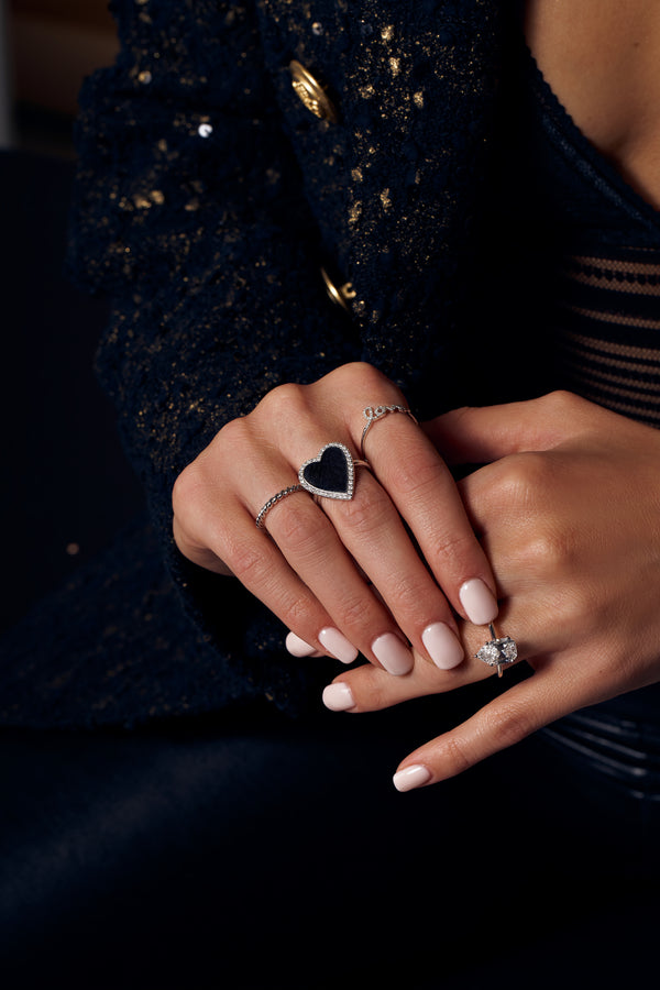 Diamond Jumbo Mirror Heart Ring