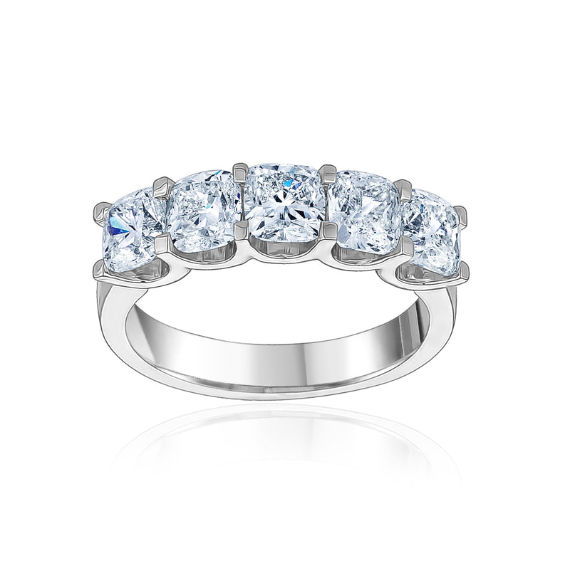 Five Prong U-Shape Cushion Cut