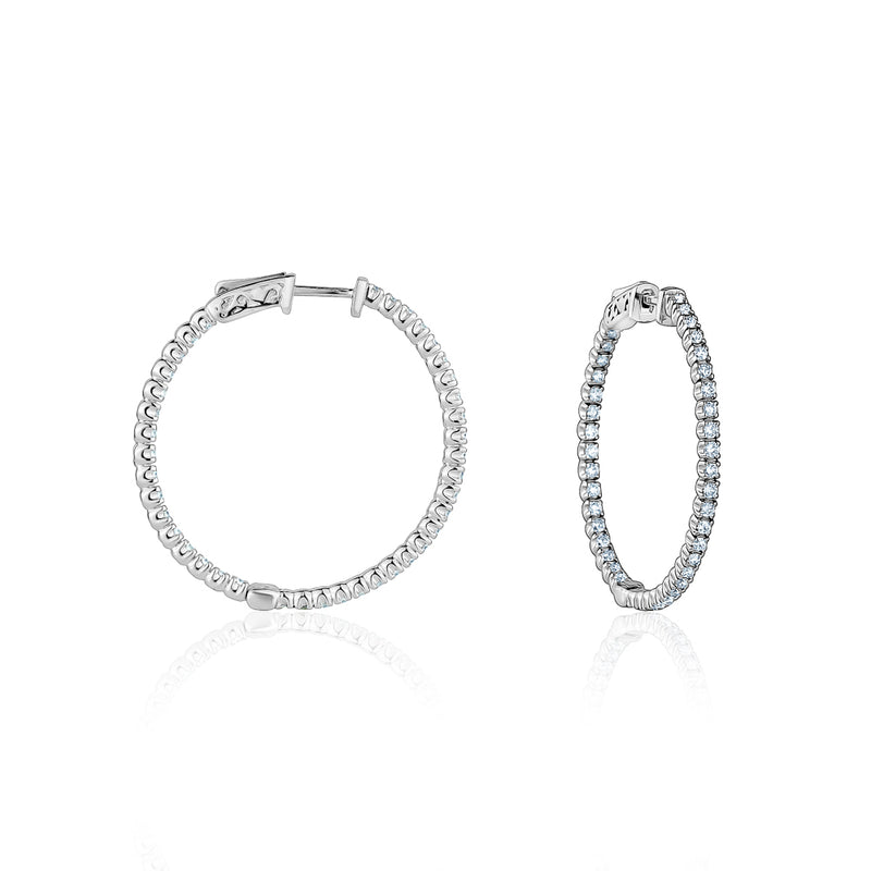 Large Diamond Hoops