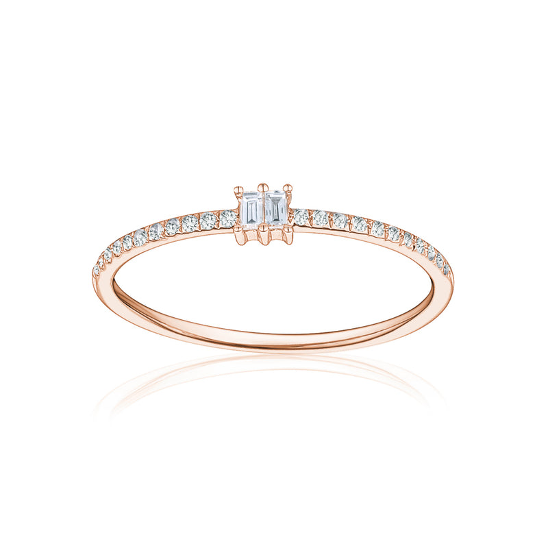 Single Baguette Thin Ring