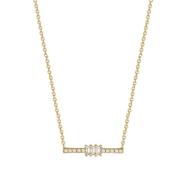 Mini Baguette Diamond Necklace