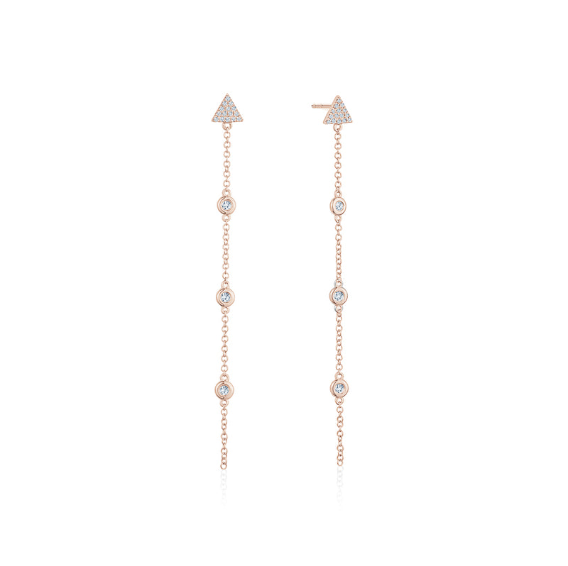 Diamond by the Yard Earrings