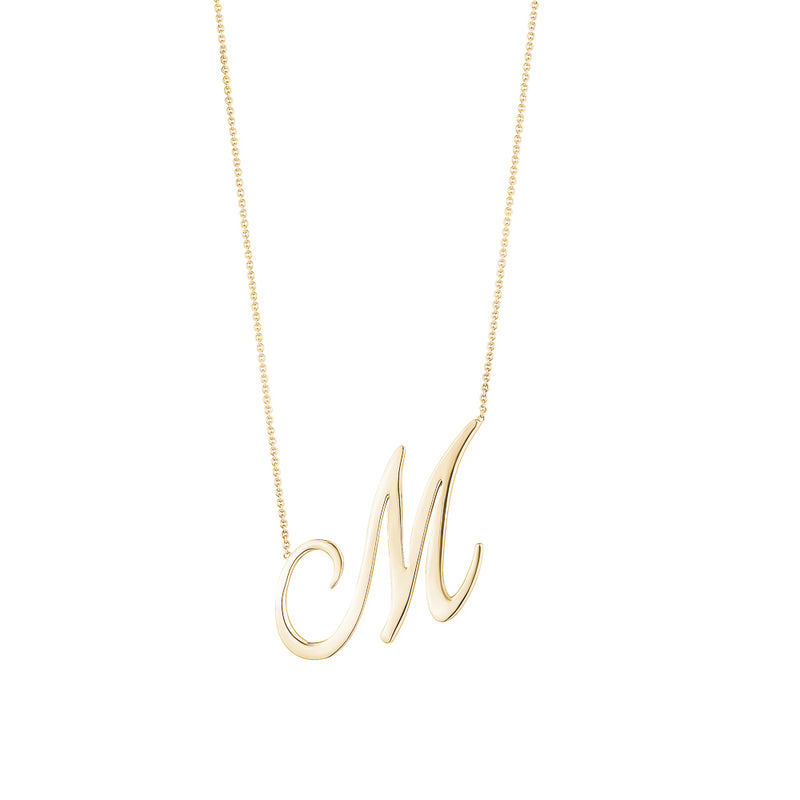 Jumbo Cursive Letter Necklace