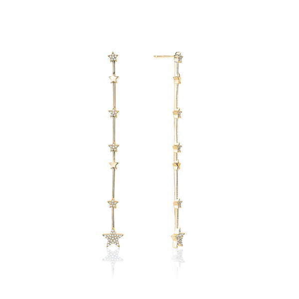 Diamond pavé star earrings