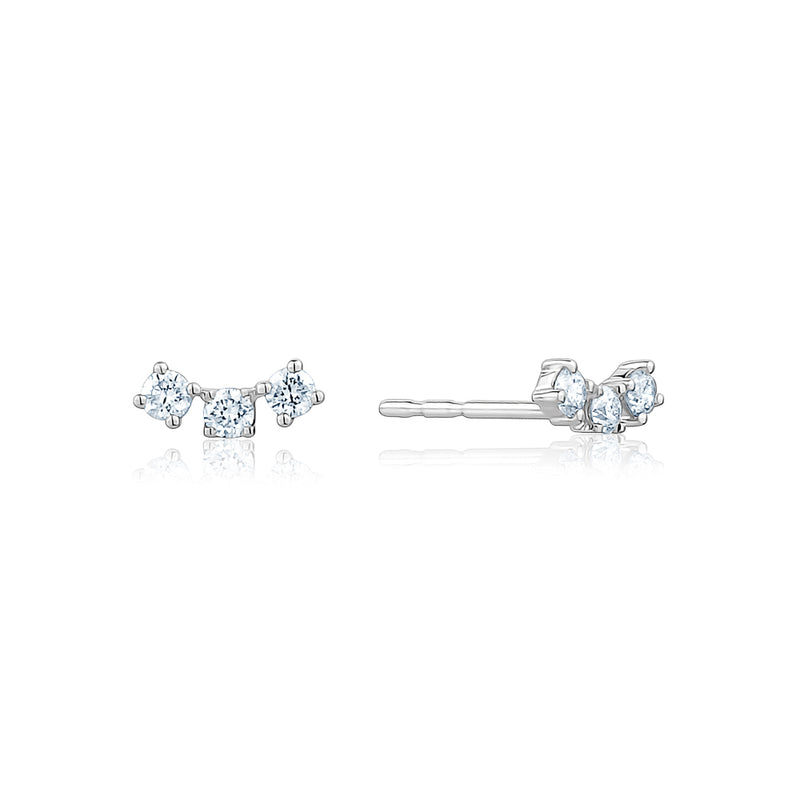 The Diamond Curved Trio Stud