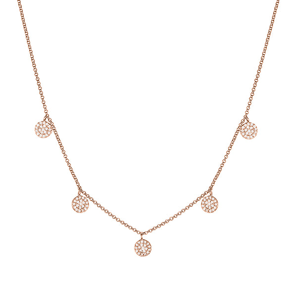 Dangling Diamond Circle Necklace