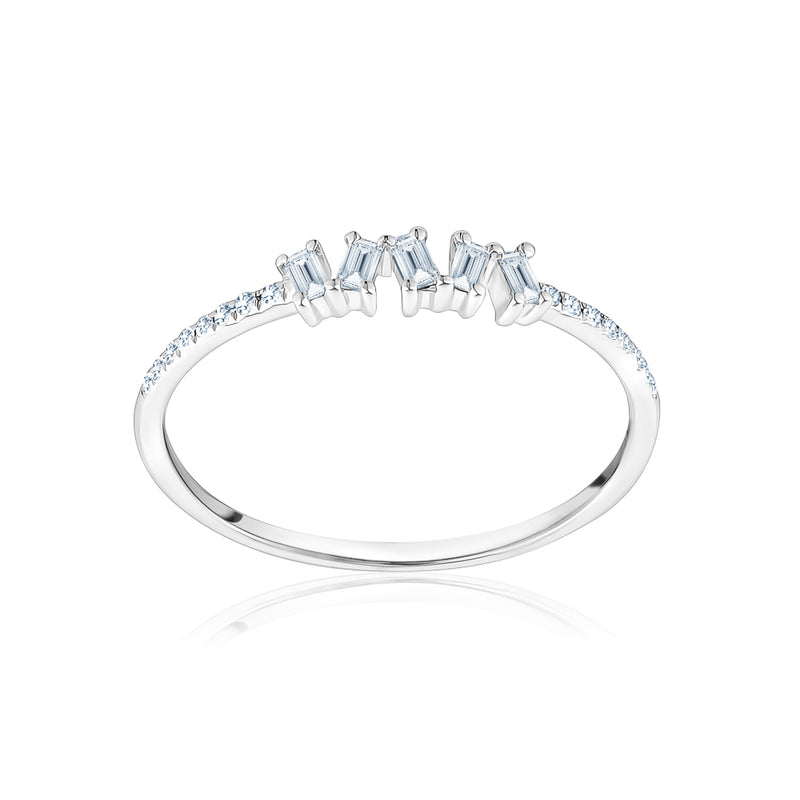 Diamond Jagged Baguette Ring