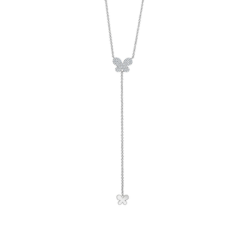 Dangling Diamond Butterfly Necklace