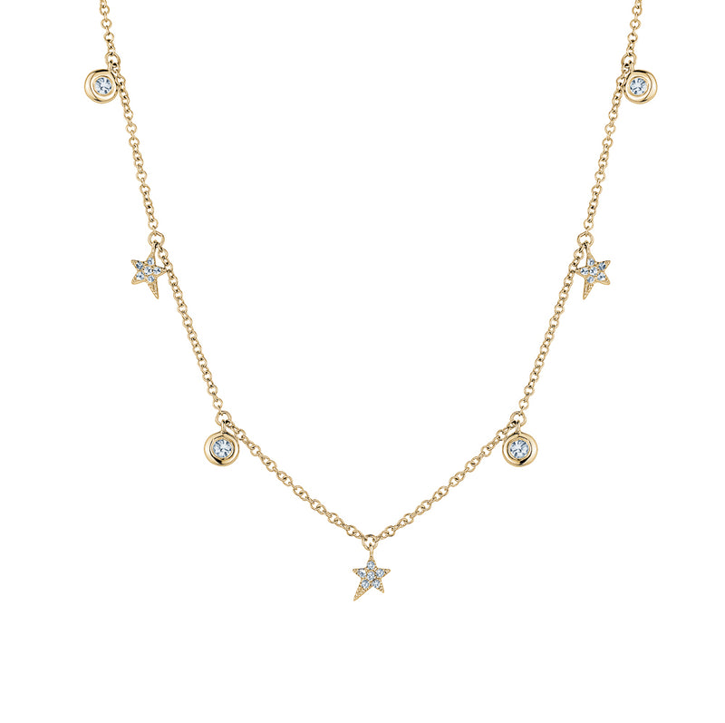 Diamond By the Yard Star Necklace