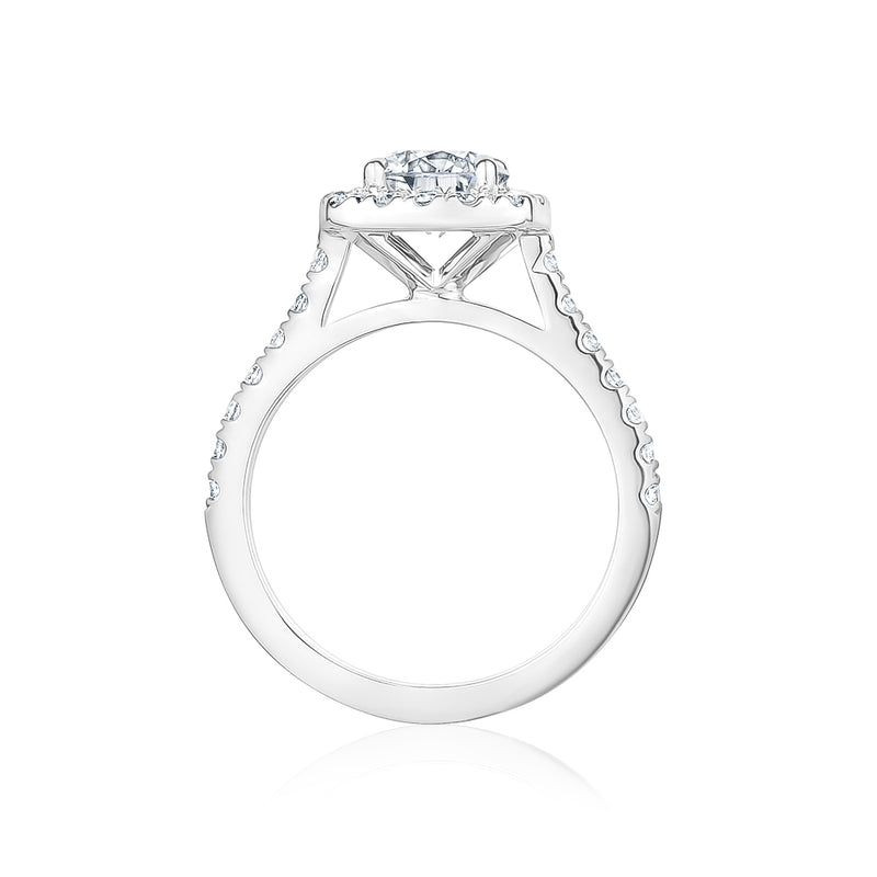 Signature Halo Cushion Cut Setting