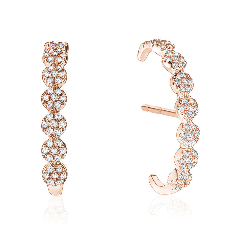 Pavé Circle Earrings