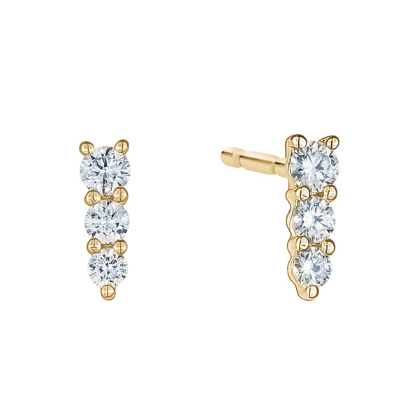 Graduated Diamond Studs