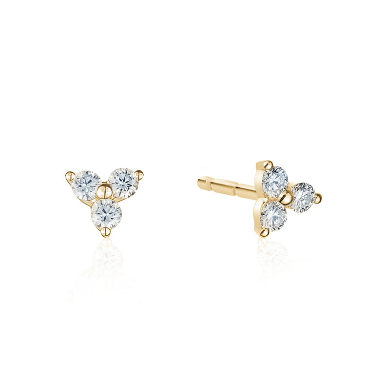 Diamond Trio Studs
