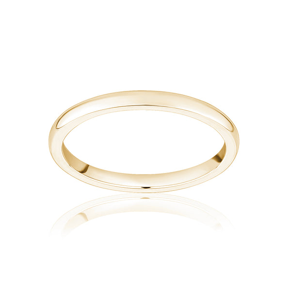 1.5mm Gold Stackable Ring