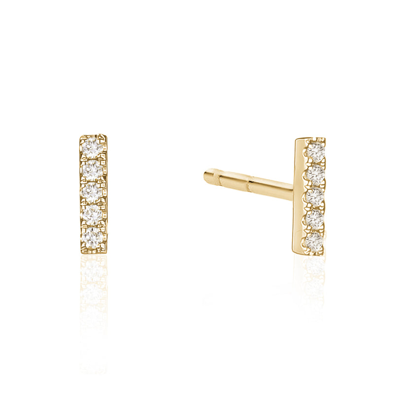 Petite Diamond Bar Studs