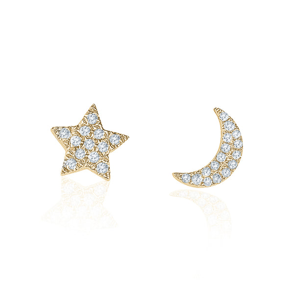 StarMoon Stud Earrings