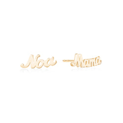 Personalized Name Stud Earrings