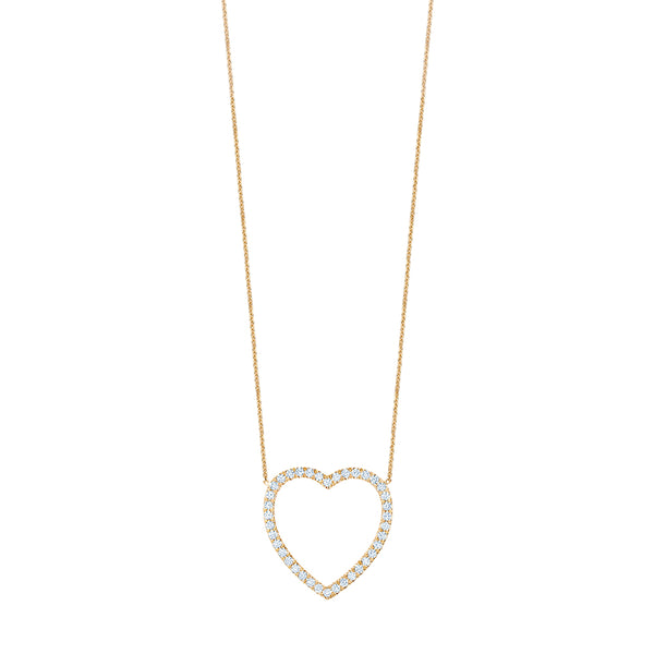 Jumbo Diamond Heart Necklace
