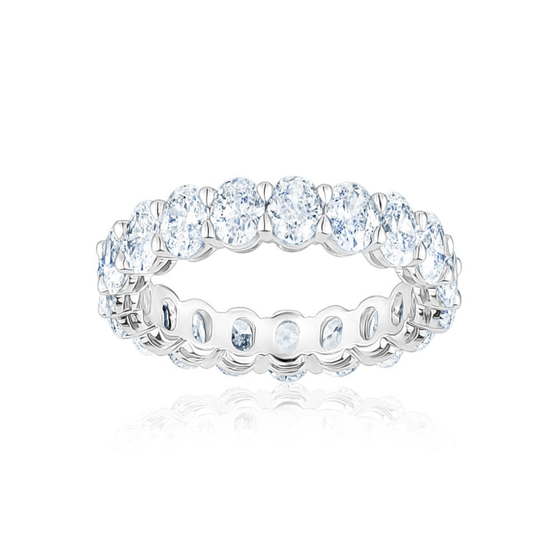 Diamond Oval Eternity Band