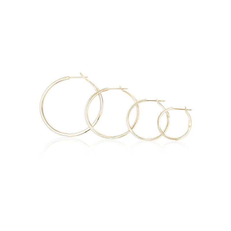 Skinny Diamond Hoops