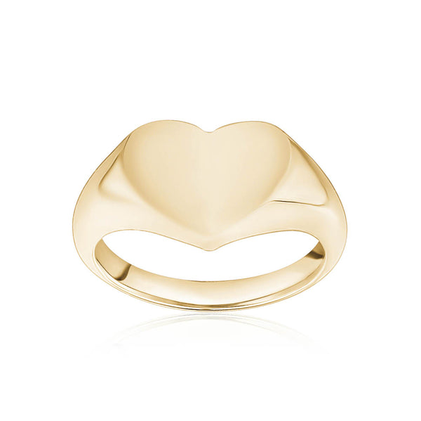 Heart Signet Curb Ring
